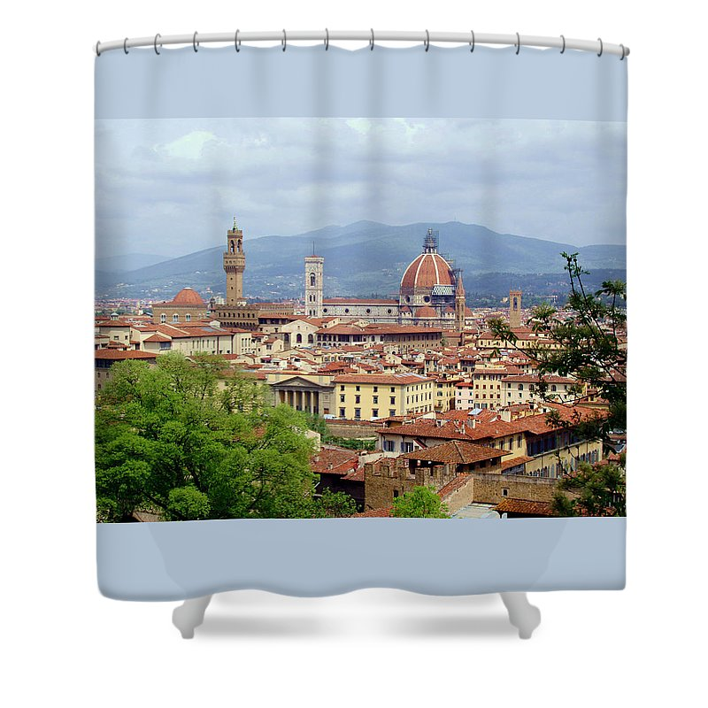 Florence Shower Curtain featuring the photograph Florence by Ellen Henneke