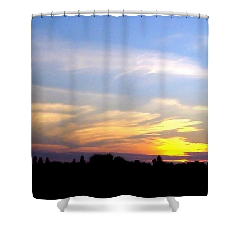 Sunset Shower Curtain featuring the photograph Florida Sunset by Norman Johnson