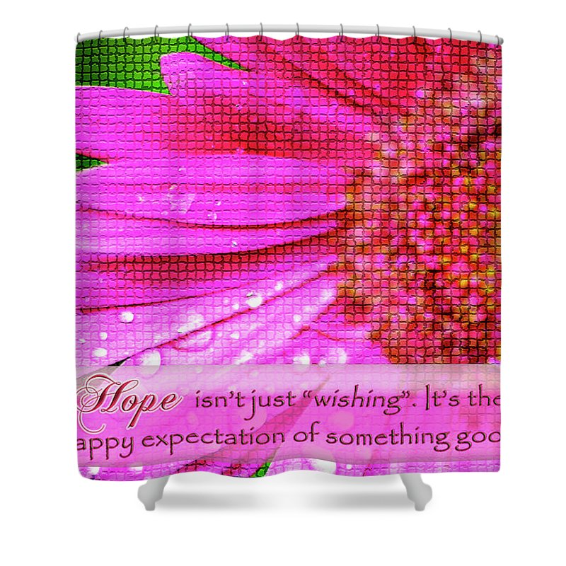 Hope Shower Curtain featuring the digital art Flower Of Hope by Carolyn Marshall