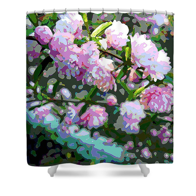 Flowers Shower Curtain featuring the photograph Flowering Almond by Jean Hall
