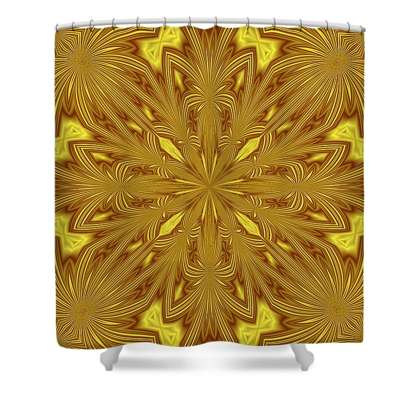 Pattern Shower Curtain featuring the digital art Flowers In The Paradise by Lena Photo Art