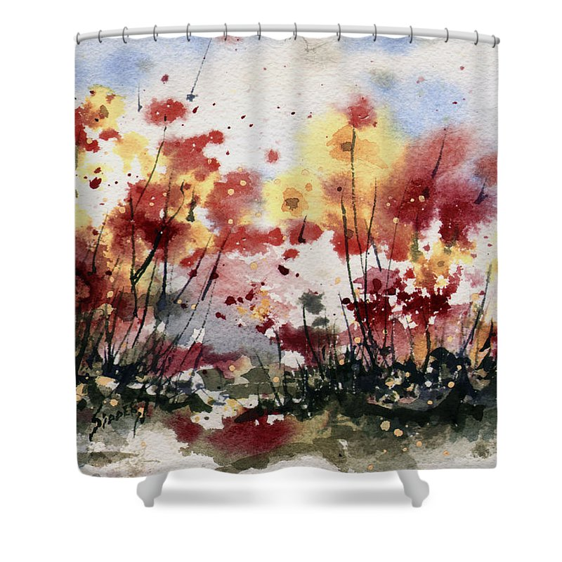 Floral Shower Curtain featuring the painting Flowers by Sam Sidders