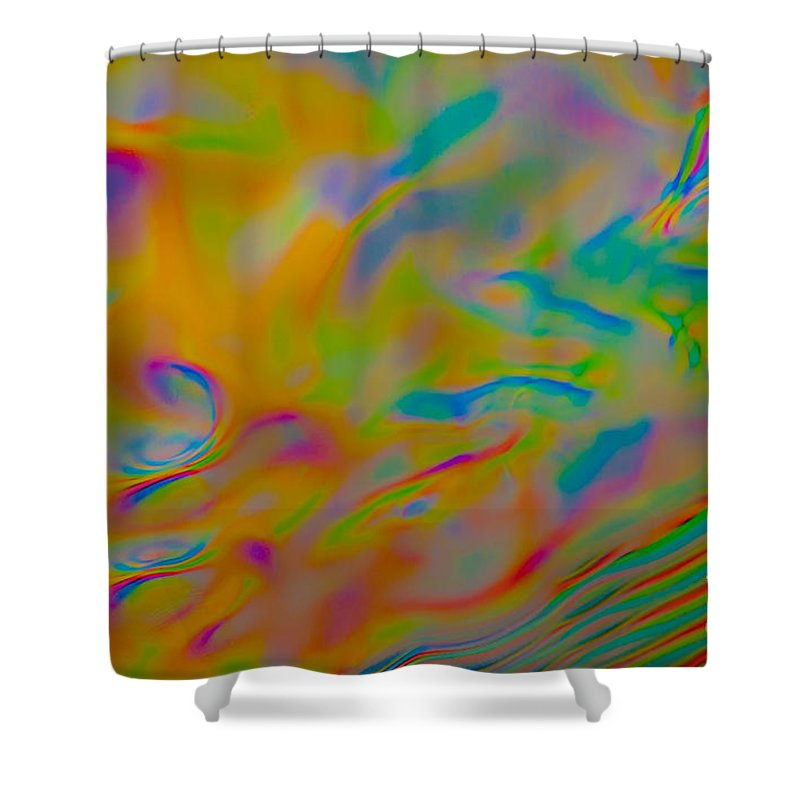 Abstract Shower Curtain featuring the photograph Fluff by Anthony Sacco