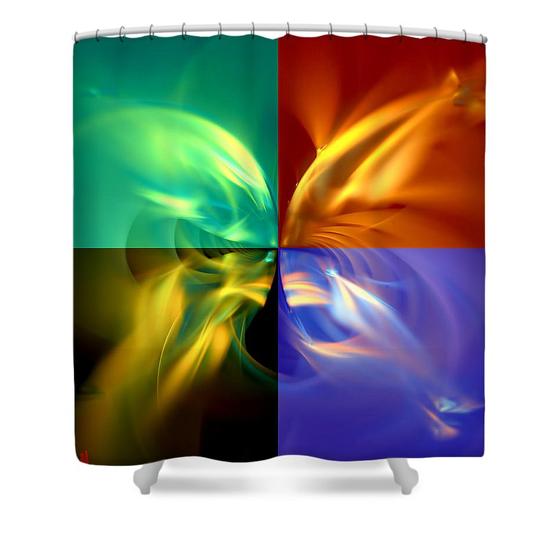 Wings Shower Curtain featuring the digital art Fly Away by Adam Vance