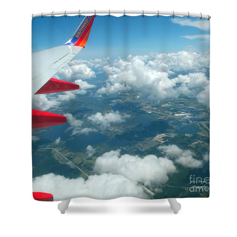 Southwest Shower Curtain featuring the photograph Flying High 3 by Jennifer Lavigne
