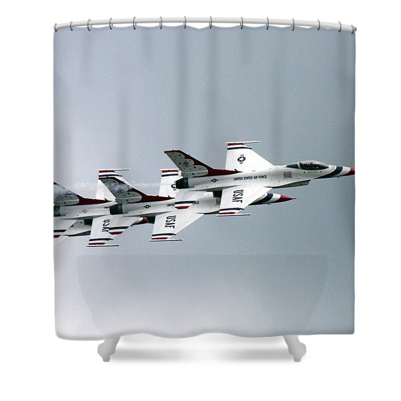 Thunderbirds Shower Curtain featuring the photograph Flying by Mitch Cat