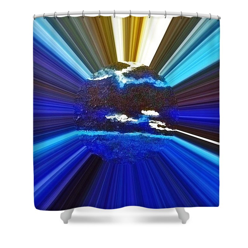 Blue Focus Shower Curtain featuring the photograph Focus On Blue by Saundra Myles