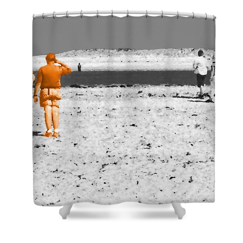Landscape Shower Curtain featuring the digital art Focused Relationship by Tim Richards