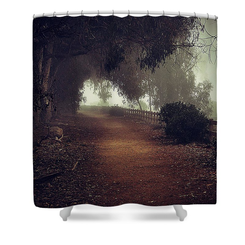 Fog Shower Curtain featuring the photograph Foggy Dreams by John A Royston