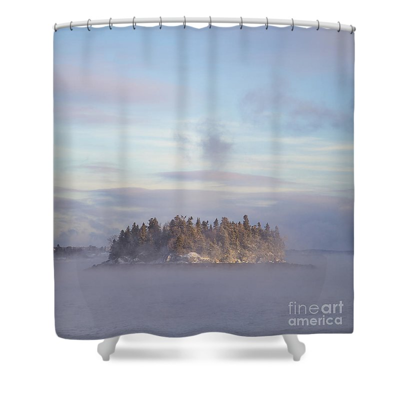 Fog Shower Curtain featuring the photograph Fogscape by Evelina Kremsdorf