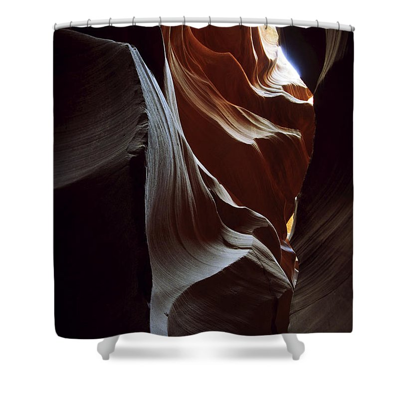 Antelope Canyon Shower Curtain featuring the photograph Follow The Light by Kathy McClure