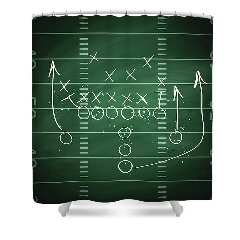 Plan Shower Curtain featuring the digital art Football Play by Traffic analyzer