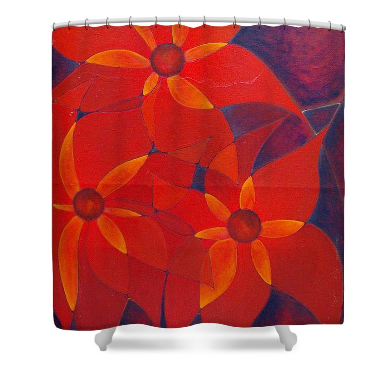 Colour Shower Curtain featuring the painting For Me For You by Wojtek Kowalski