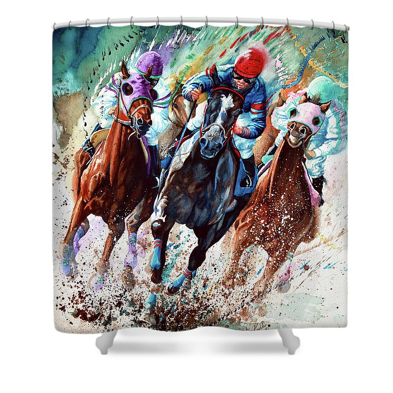 Race Horse Shower Curtains