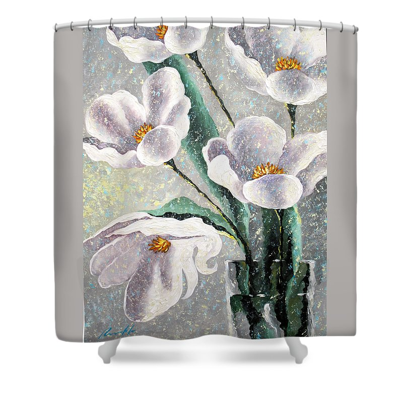 For You Shower Curtain featuring the painting For You by Sergey Lipovtsev