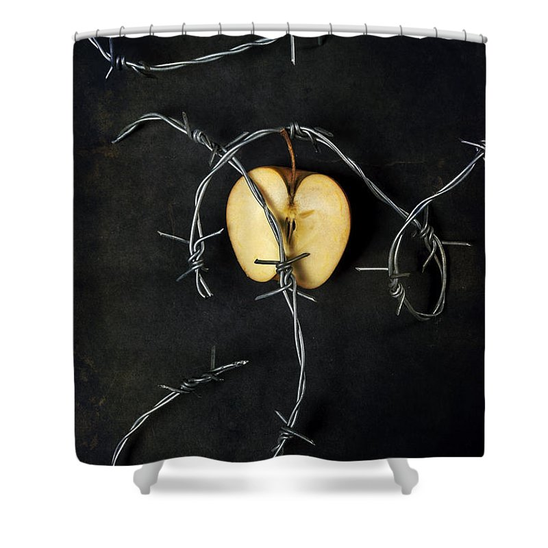 Wire Shower Curtain featuring the photograph Forbidden Fruit by Joana Kruse