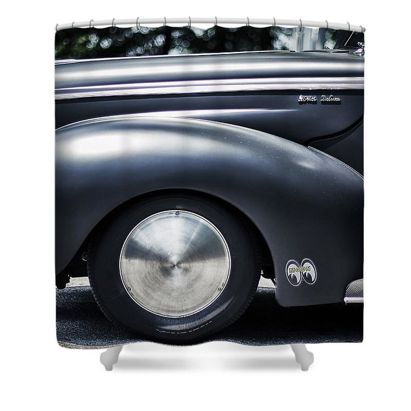 Ford Shower Curtain featuring the photograph Ford Deluxe by Scott Wyatt