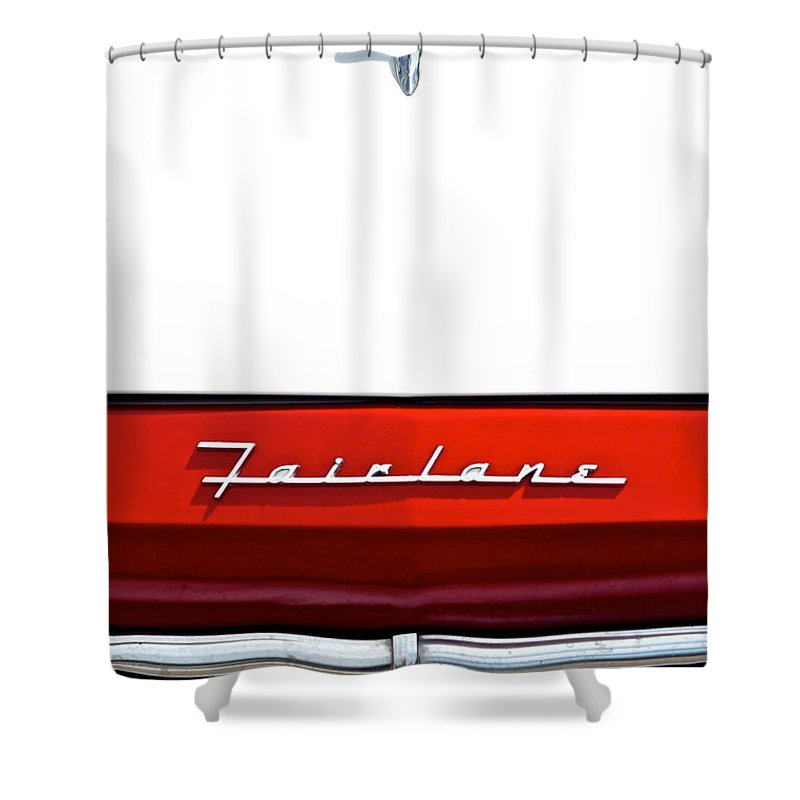Ford Shower Curtain Featuring The Photograph Fairlane By Frozen In Time Fine Art Photography
