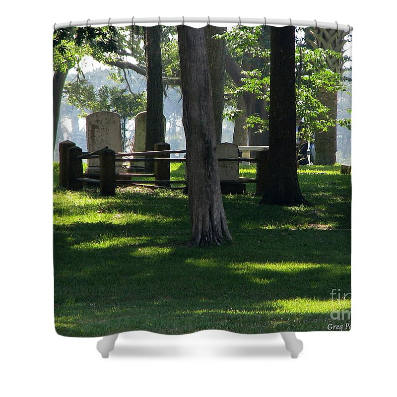 Patzer Shower Curtain featuring the photograph Fore Fathers by Greg Patzer