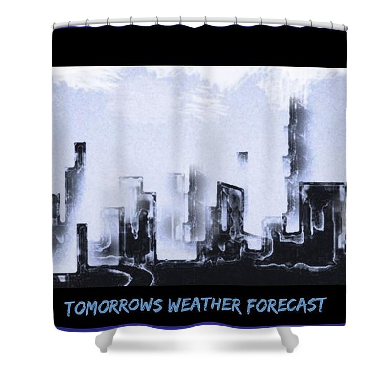 Surrealist Art Shower Curtain featuring the painting Forecast by John Malone