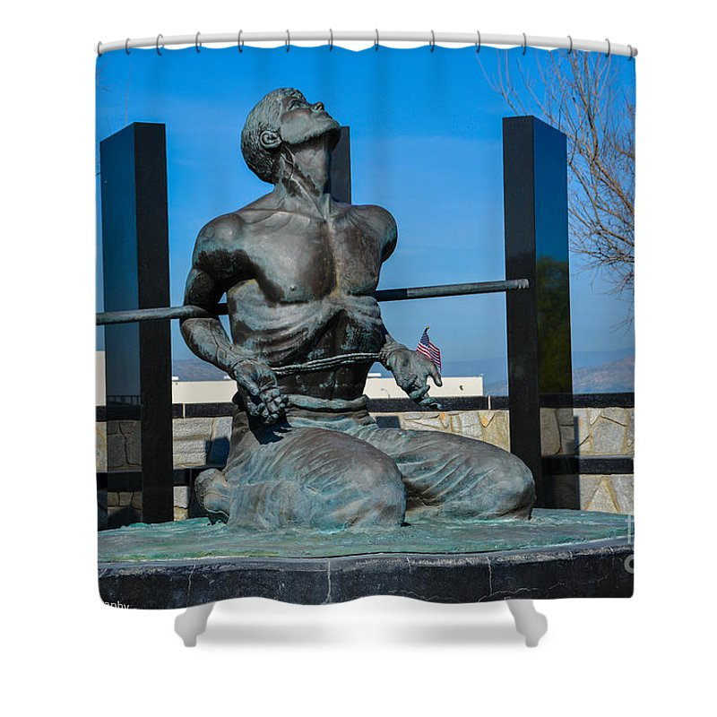 National Pow Memorial Shower Curtain featuring the photograph Forget Me Not by Tommy Anderson
