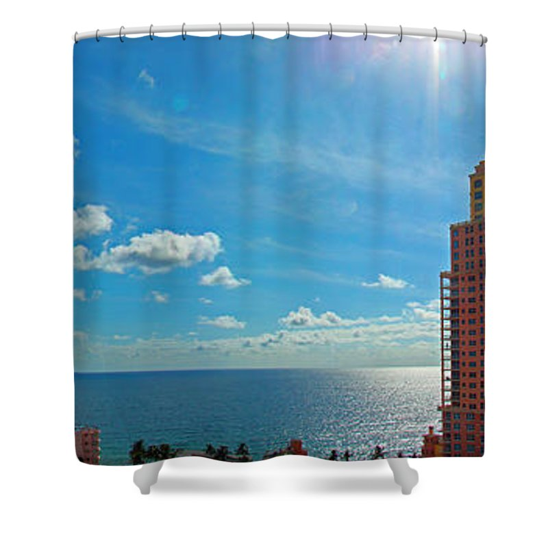 Fort Lauderdale Shower Curtain featuring the photograph Fort Lauderdale Ocean View by Nancy L Marshall