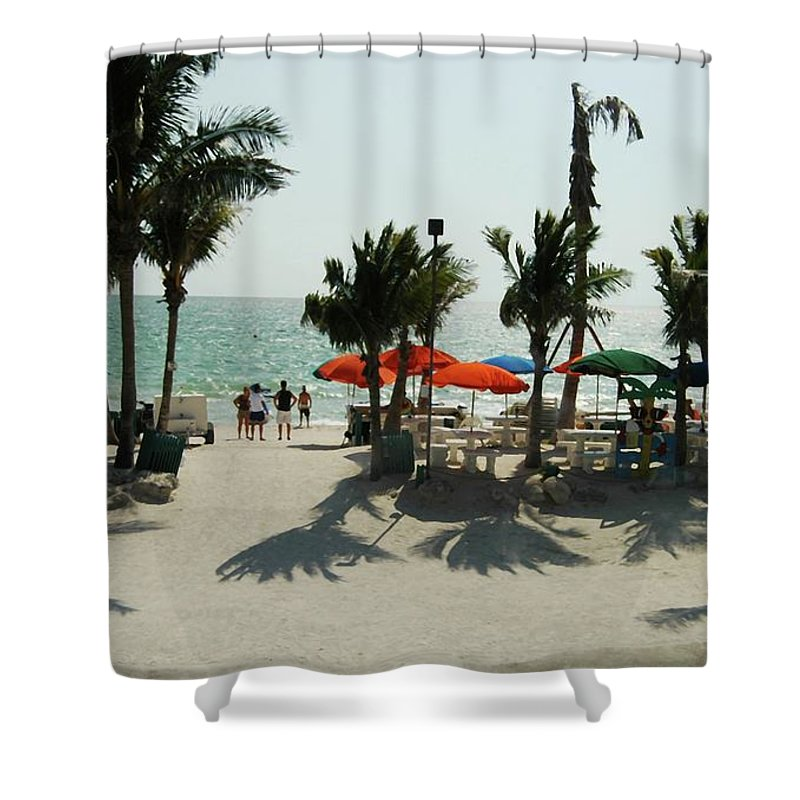 #fort #meyer's #beach #florida Shower Curtain featuring the photograph Fort Meyer's Beach by Kathleen Struckle