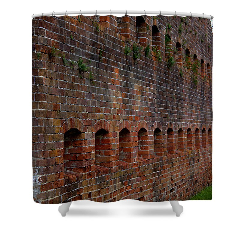Fort Pike Shower Curtain featuring the photograph Fort Pike - #5 by Beth Vincent