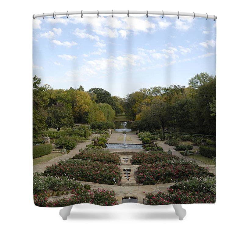 Floral Shower Curtain featuring the photograph Fort Worth Arboretum by Charles Beeler