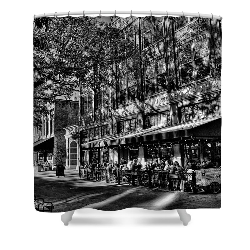 Four Market Square Shower Curtain featuring the photograph Four Market Square In Knoxville by David Patterson