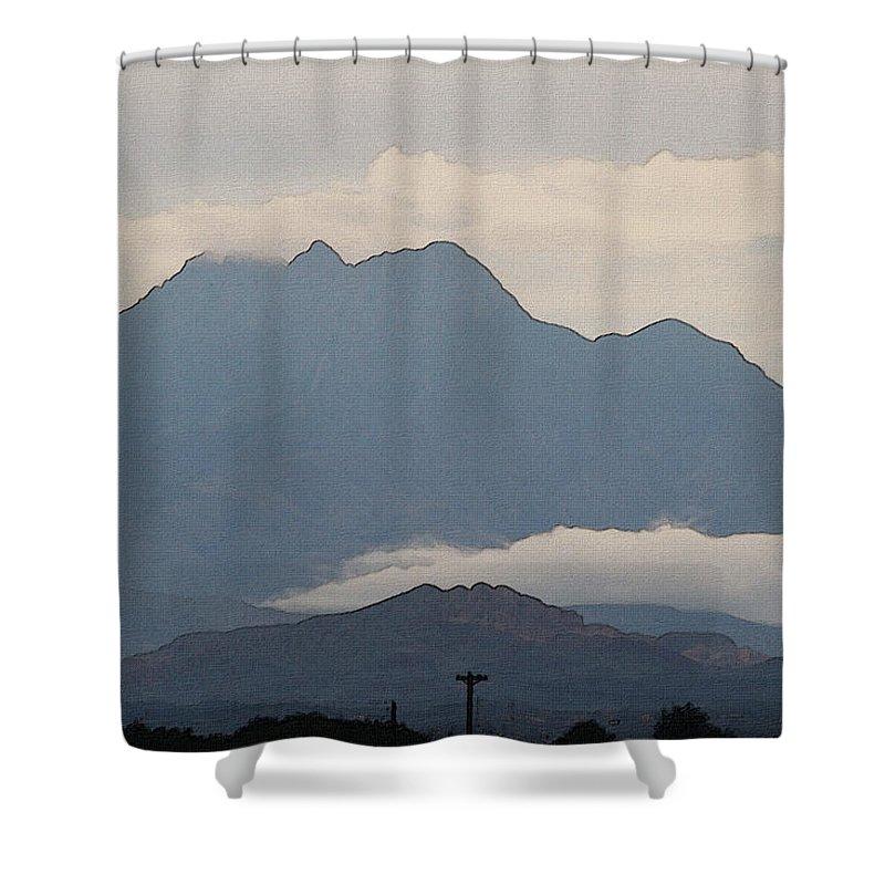 Four Peaks After A Storm Shower Curtain featuring the photograph Four Peaks After A Storm by Tom Janca