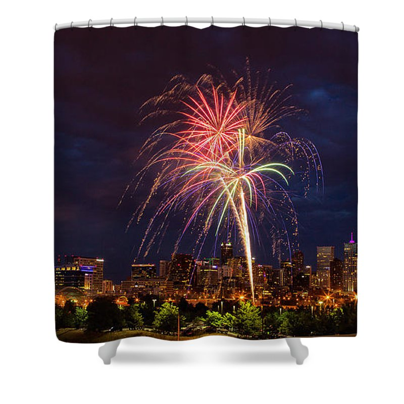 Denver Shower Curtain featuring the photograph Fourth Of July by John K Sampson