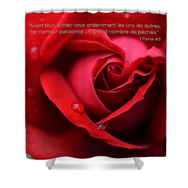 Flower Shower Curtain featuring the photograph Fr I Peter 4 8 by Sebastiano Secondi