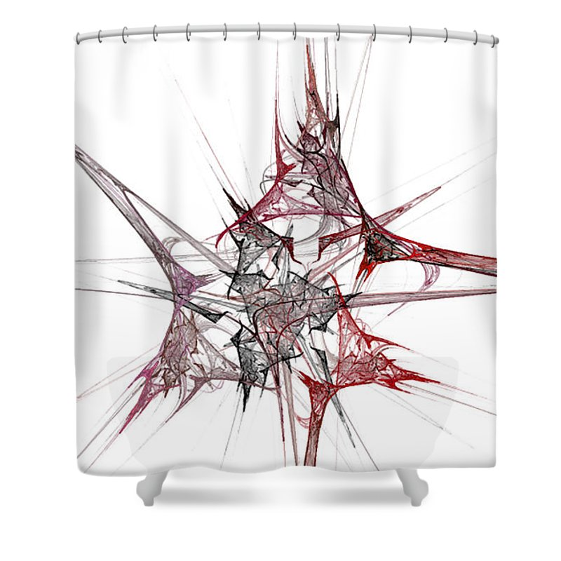 Fractal 057 Shower Curtain featuring the digital art Fractal 057 by Taylor Webb