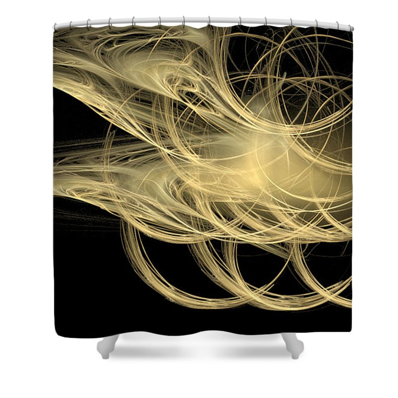 Fractal 079 Shower Curtain featuring the digital art Fractal 079 by Taylor Webb