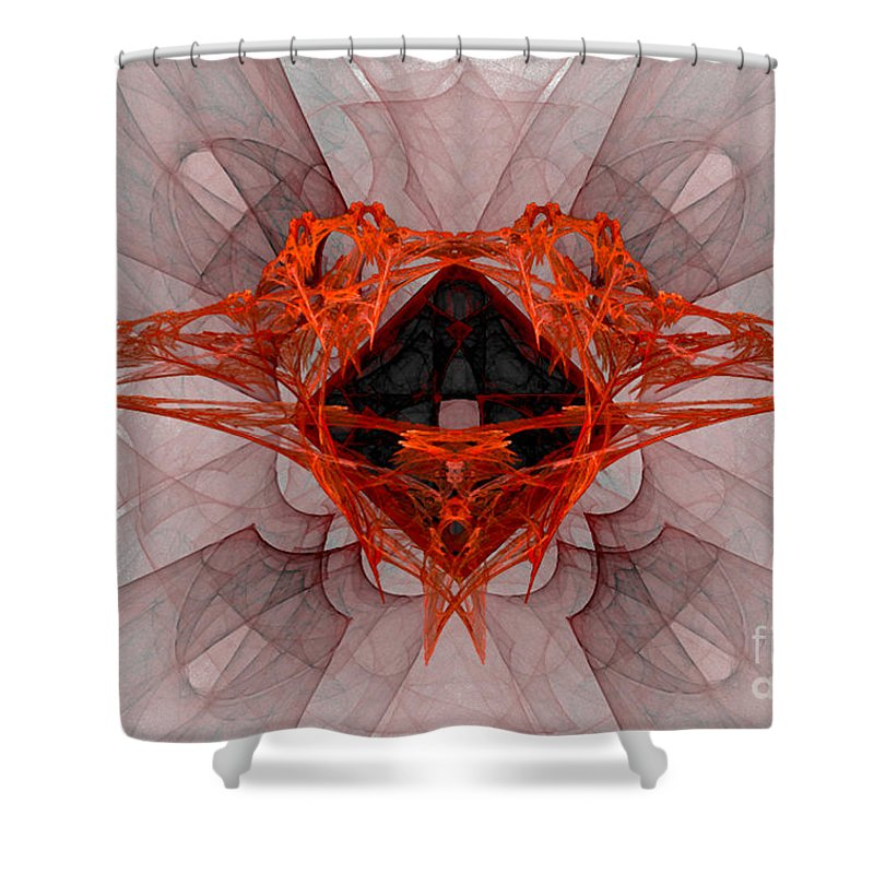 Fractal 080 Shower Curtain featuring the digital art Fractal 080 by Taylor Webb