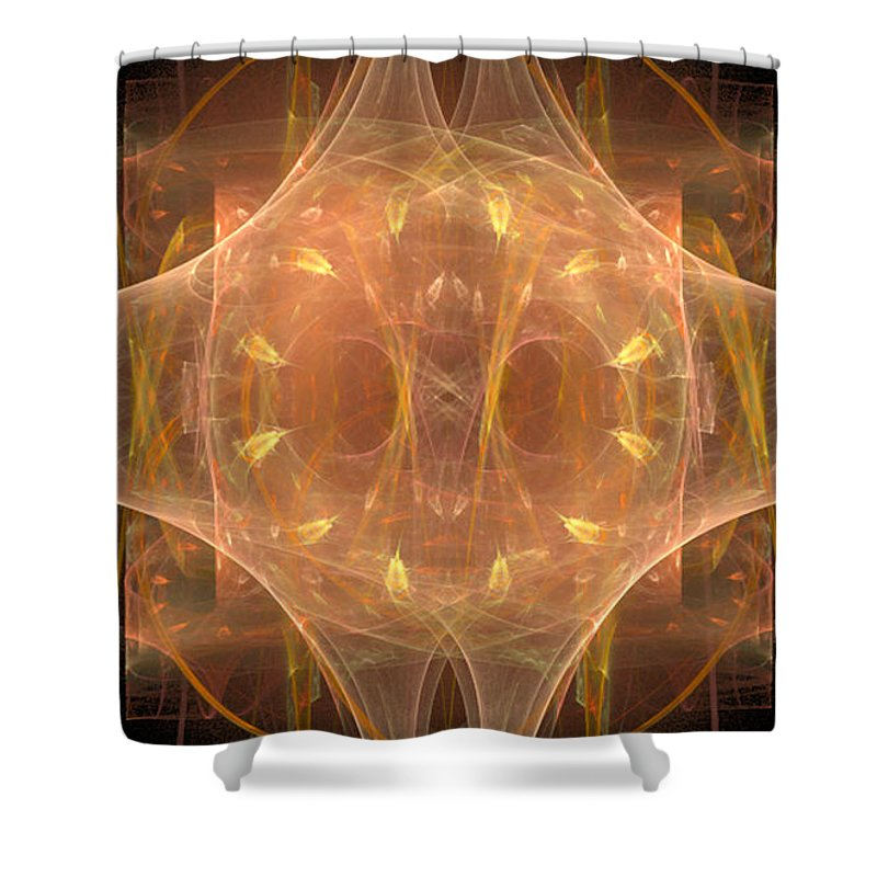 Fractal 096 Shower Curtain featuring the digital art Fractal 096 by Taylor Webb