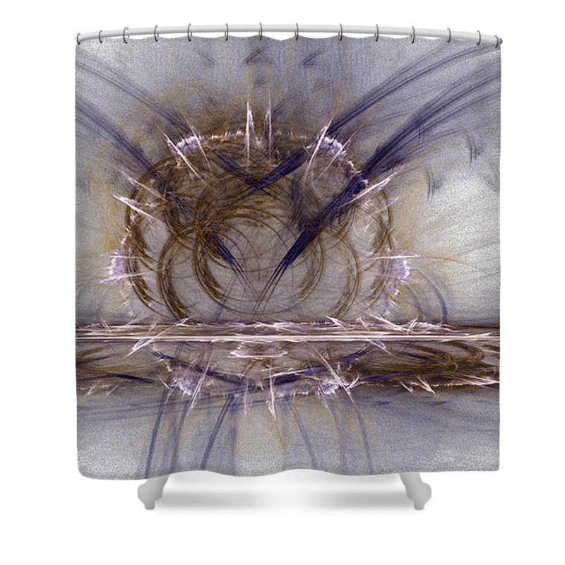 Fractal 107 Shower Curtain featuring the digital art Fractal 107 by Taylor Webb