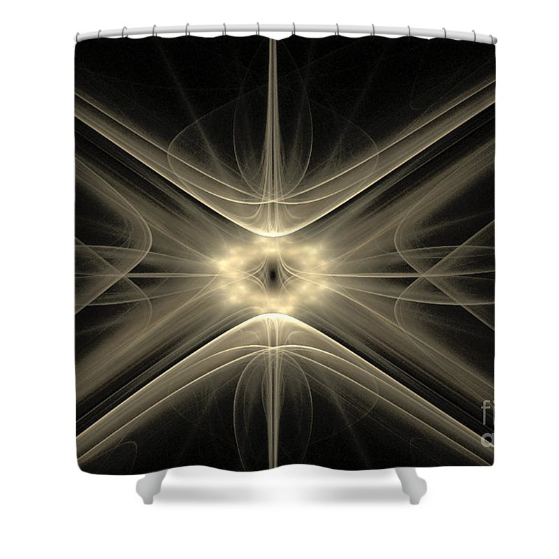Fractal 110 Shower Curtain featuring the digital art Fractal 110 by Taylor Webb