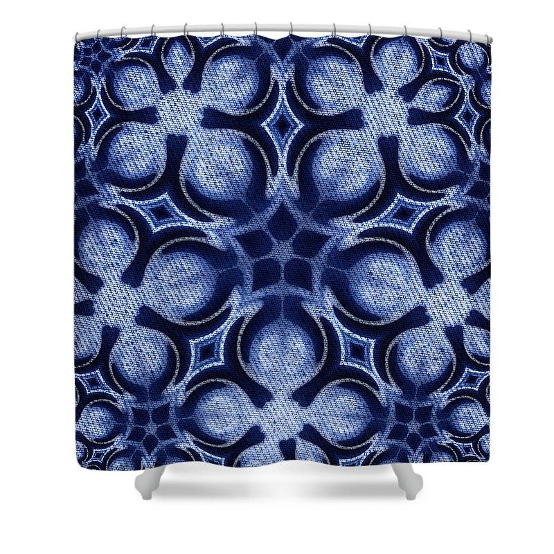 Artmatic Shower Curtain featuring the digital art Fractal Floral Pattern by Hakon Soreide