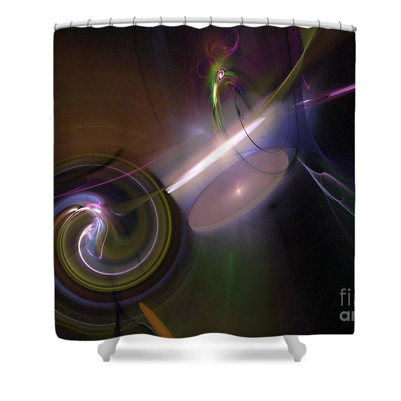 Background Shower Curtain featuring the digital art Fractal Multi Color by Henrik Lehnerer