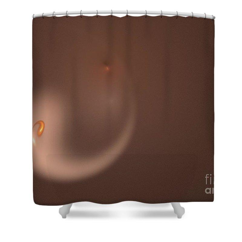 Background Shower Curtain featuring the digital art Fractal Orange Flair by Henrik Lehnerer