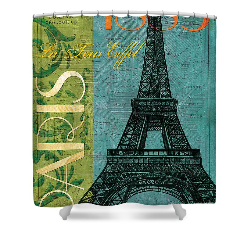 France Shower Curtain featuring the painting Francaise 1 by Debbie DeWitt