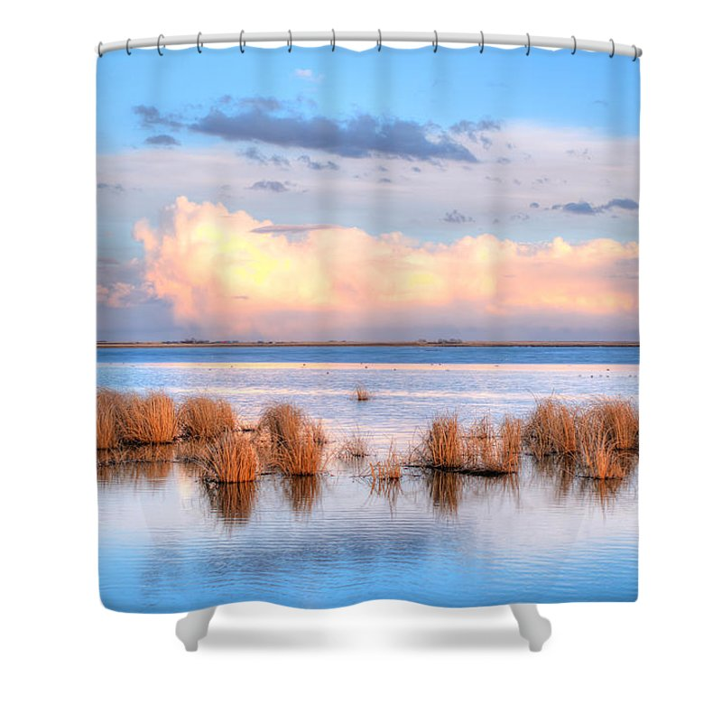 Alberta Shower Curtain featuring the photograph Frank Lake Alberta by Brandon Smith
