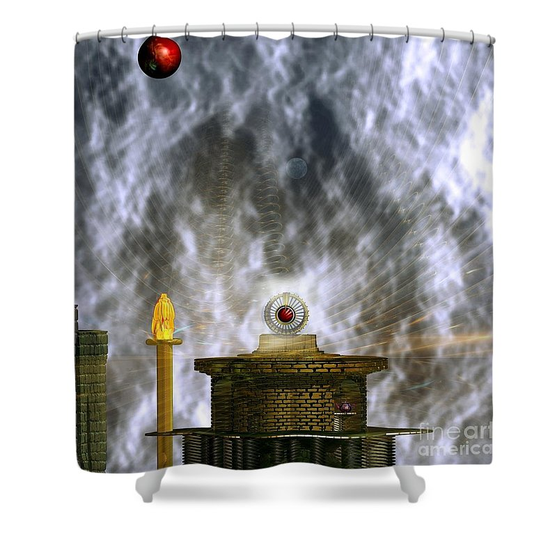 Free Energy Shower Curtain featuring the digital art Free Energy by Peter R Nicholls