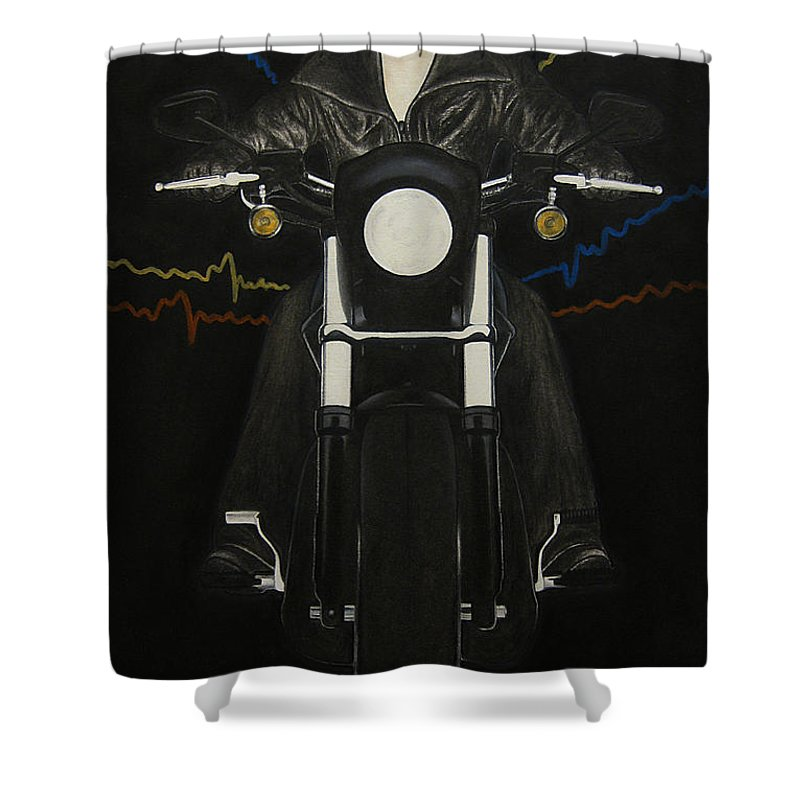 Freedom Shower Curtain featuring the painting Freedom by Lynet McDonald