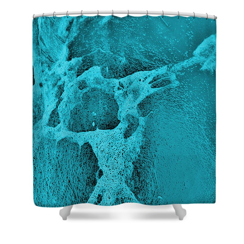 Photography Shower Curtain featuring the photograph Freeway Pole Art Sailor-pole Art Photo Series Turquoise Black by Sirron Kyles