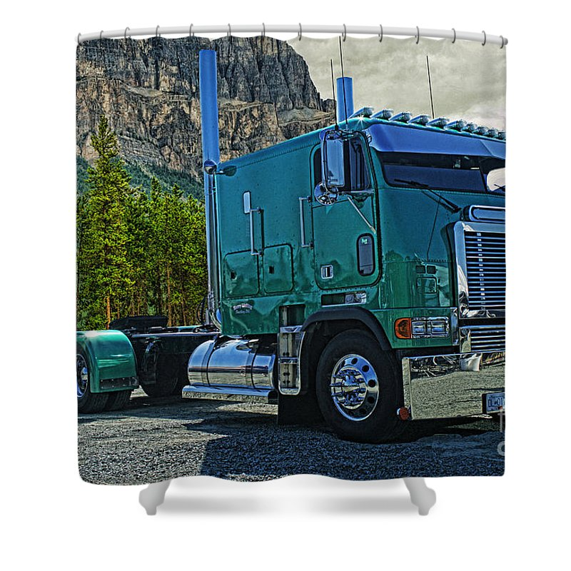 Cabover Trucks For Sale >> Freightliner Cabover Shower Curtain