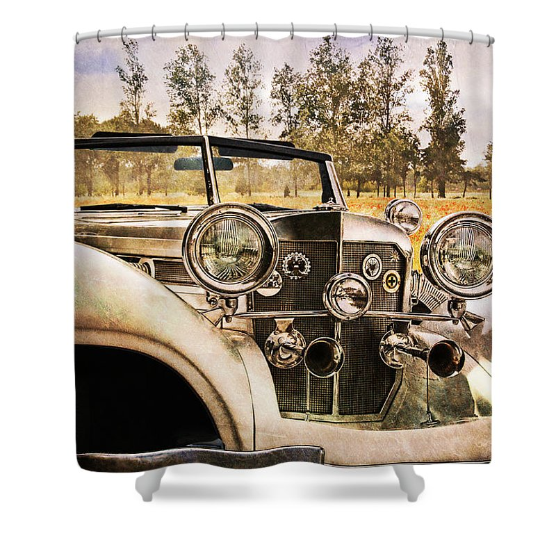 Classic Car Shower Curtain featuring the photograph French Romantic by Claudia Moeckel