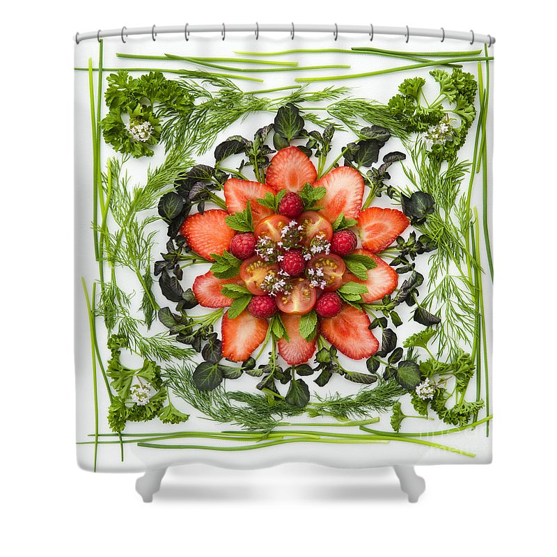Arranged Shower Curtain featuring the photograph Fresh Fruit Salad by Anne Gilbert